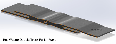 Hot Wedge Double Track Fusion Weld